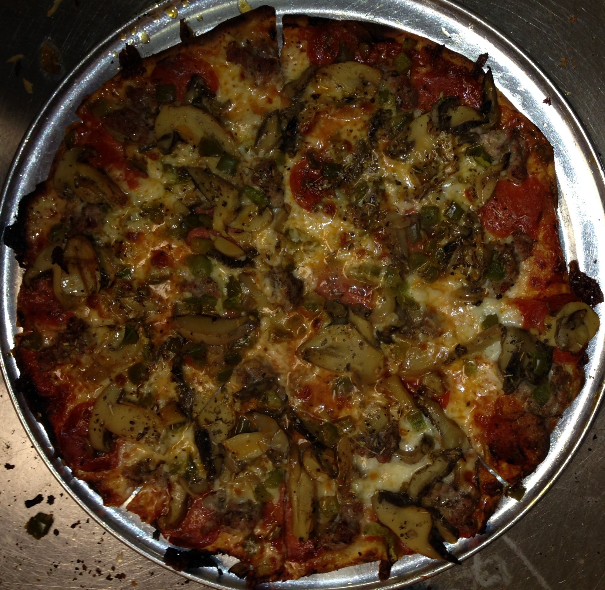 Fricanos_Pepperoni, Mushroom, Green Pepper Pizza.JPG